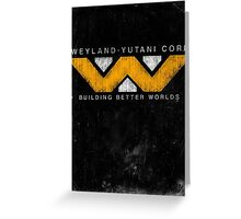 Weyland Yutani - Grunge Greeting Card
