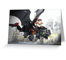 "Lego ""How to train your dragon"" - Hiccup & Toothless Greeting Card"