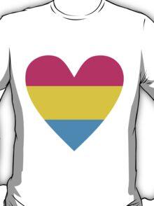 Pansexual heart T-Shirt
