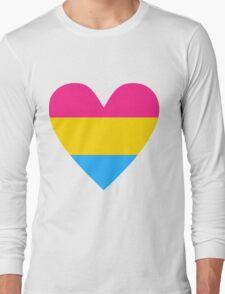 Pansexual heart Long Sleeve T-Shirt