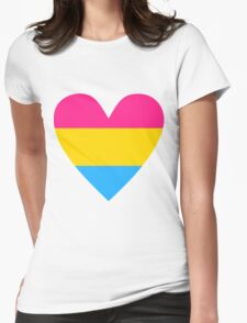 Pansexual heart Womens Fitted T-Shirt