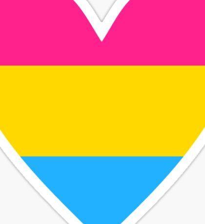 Pansexual heart Sticker