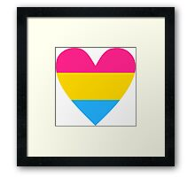 Pansexual heart Framed Print