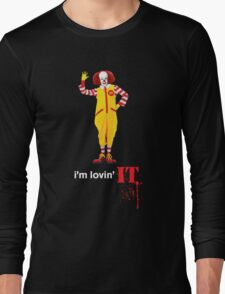 Pennywise lovin' IT ( White Font ) Long Sleeve T-Shirt