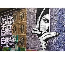 Watching - Graffiti Photographic Print