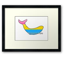 Pansexuwhale - pansexual whale Framed Print