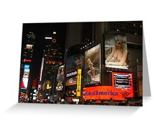 Up in lights. Greeting Card