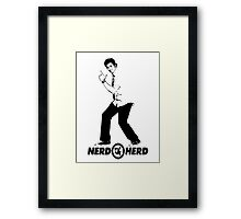 Chuck Bartowski - Buy More - NERD HERD Framed Print