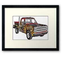 Brass Steampunk Lorry Framed Print