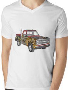 Brass Steampunk Lorry Mens V-Neck T-Shirt