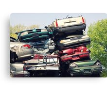 car recycling station Canvas Print