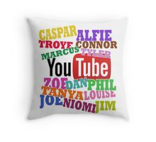 YOUTUBE STARS Throw Pillow