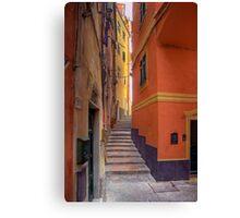 """Lerici - Tipical """"Carobbio"""" (Alley) Canvas Print"""