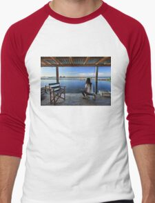 Peaceful life in the lagoon of Messolonghi Men's Baseball ¾ T-Shirt
