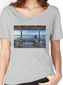 Peaceful life in the lagoon of Messolonghi Women's Relaxed Fit T-Shirt