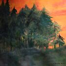 Sunset in the Woods by coppertrees