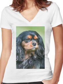 My Best Friend Maximus Women's Fitted V-Neck T-Shirt