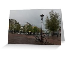 Amsterdam - the Yellow Umbrella Greeting Card