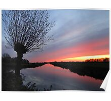 Icelandic volcanic ash colours sunset in Gouda  ... Poster