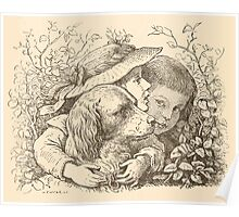 Five Mice in a Mouse Trap Laura Elisabeth Howe Richards and Kate Greenaway 1881 0166 Children and Dog Poster