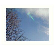 green cloud ray Art Print