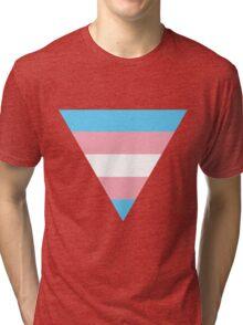 Triangle transgender flag Tri-blend T-Shirt