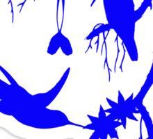 Blue booted rackettail hummingbird Sticker