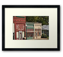 Small town downtown Framed Print