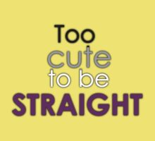 Too cute to be straight - asexual Baby Tee