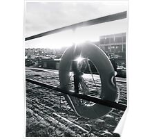 Bristol Waterfront, Black and White Poster