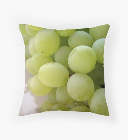 Green Grapes Throw Pillow