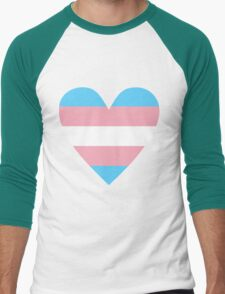 Transgender heart Men's Baseball ¾ T-Shirt