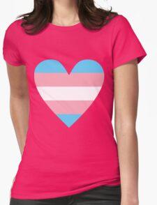 Transgender heart Womens Fitted T-Shirt