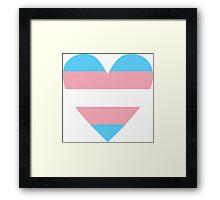 Transgender heart Framed Print