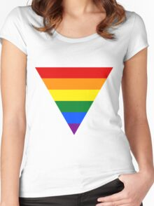 LGBT triangle flag Women's Fitted Scoop T-Shirt