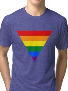LGBT triangle flag Tri-blend T-Shirt