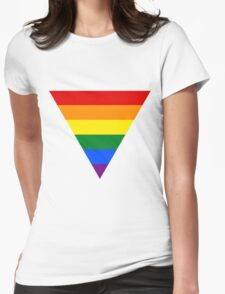 LGBT triangle flag Womens Fitted T-Shirt