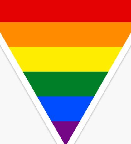 LGBT triangle flag Sticker