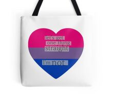 Let's get one thing straight, I'm not - bisexual heart flag Tote Bag