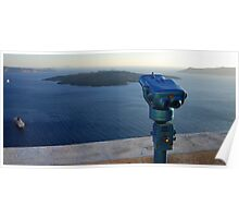 Caldera View at Santorini Poster