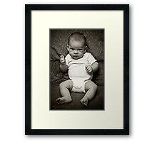 The 3 month old Stud Framed Print