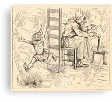 Five Mice in a Mouse Trap Laura Elisabeth Howe Richards and Kate Greenaway 1881 0102 Cross Old Woman and Fire Canvas Print