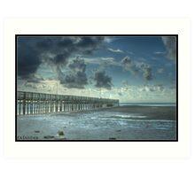 Anclote Fishing Pier Tarpon Spring Florida Art Print