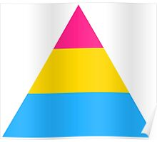 Pansexual triangle flag Poster