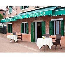 Dining al fresco Photographic Print