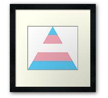 Transgender triangle flag Framed Print