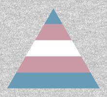Transgender triangle flag One Piece - Short Sleeve