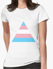 Transgender triangle flag Womens Fitted T-Shirt