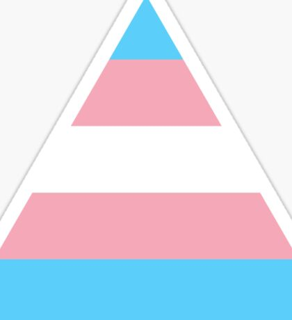 Transgender triangle flag Sticker