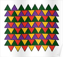 bright coloured triangles Poster